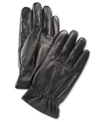 Ryan Seacrest Distinction Men's Leather Gloves Only At Macy's Black