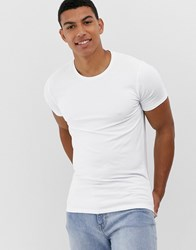 Selected Homme 'The Perfect Tee' Muscle Fit Lounge T Shirt In White