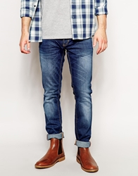 Antony Morato Skinny Jeans With Blasting And Rips Lightstonewash