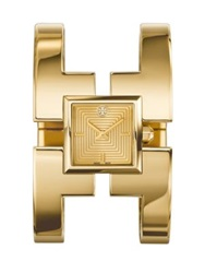Tory Burch Sawyer Goldtone Stainless Steel Bangle Bracelet Watch
