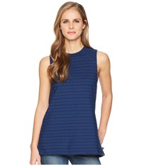 United By Blue Glencoe Stripe Tank Top Navy Sleeveless