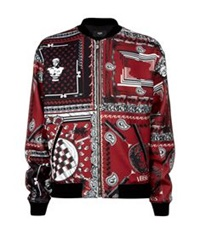 Versus By Versace Bandana Print Bomber Jacket Red