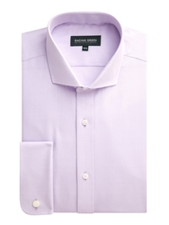 Racing Green Newgate Plain Tailored Fit Long Sleeve Shirt Lilac