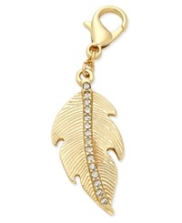Thalia Sodi Gold Tone Pave Feather Clip On Charm Only At Macy's