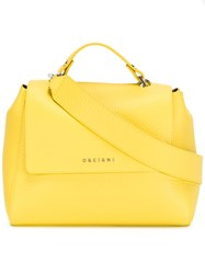 Orciani Flap Shoulder Bag Yellow Orange