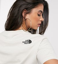 The North Face Cropped Fine T Shirt In Cream Exclusive At Asos