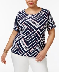 Jm Collection Plus Size Textured Scoop Neck Top Only At Macy's Geo Atlas