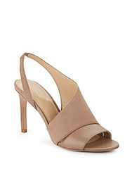Saks Fifth Avenue Colton Suede And Leather Sandals Nude