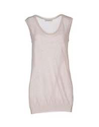 Ballantyne Sleeveless Sweaters Beige