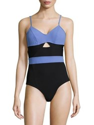 Flagpole Jolleen Colorblock One Piece Swimsuit Periwinkle