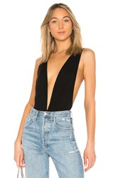 By The Way Jade Double V Bodysuit Black