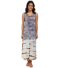 Xcvi Aludra Dress Bamboo Fade Women's Dress Blue