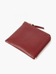 Comme Des Garcons Burgundy Luxury Leather Coin Wallet