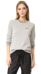 Loup Babe Sweatshirt Heather Grey Red