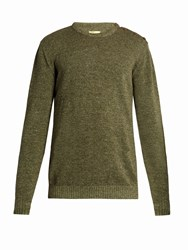 De Bonne Facture Linen And Wool Blend Sweater Khaki