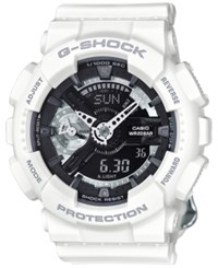 G Shock Women's Analog Digital S Series White Bracelet Watch 49X46mm Gmas110cw7a1