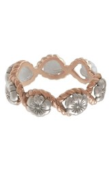 Olivia Burton Flower Show Rope Ring Silver Rose Gold