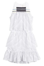 Peter Pilotto Printed Cotton Dress Stripes