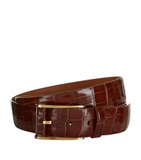 Zilli Crocodile Skin Belt Unisex Brown