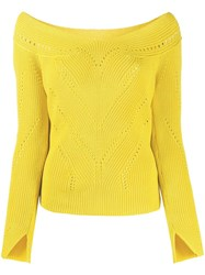 Ermanno Scervino V Neck Perforated Knit Top 60