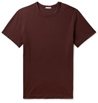 James Perse Combed Cotton Jersey T Shirt Burgundy