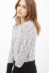 Forever 21 Colorblocked Scoop Neck Sweater