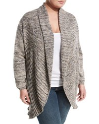 Nic Zoe Coral Room Open Front Cardigan Silver