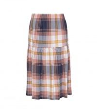 See By Chloe Checked Cotton Skirt Multicoloured