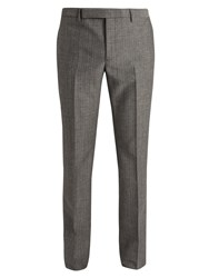 Saint Laurent Slim Leg Wool And Mohair Blend Trousers Grey
