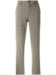 James Perse Relaxed Trousers Women Cotton Linen Flax Spandex Elastane 24 Nude Neutrals
