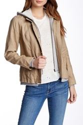 Central Park West Linen Hooded Blazer White