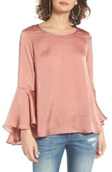 Socialite Women's Bell Sleeve Top Blush