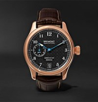 Bremont Ac35 America's Cup 43Mm Rose Gold And Alligator Watch Ref. No. Ac35 Brown