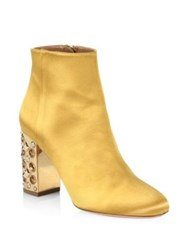 Aquazzura Crystal Party Booties Amber Yellow