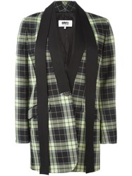 Maison Martin Margiela Mm6 Checked Blazer Black