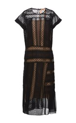 N 21 No. Lace Insert Sheath Dress Black