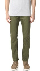 Naked And Famous Selvedge Weird Guy Jeans Khaki Green