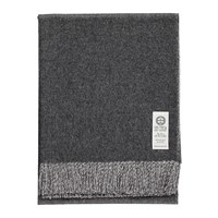 So Cosy Emery Baby Alpaca Wool Throw 130X180cm Charcoal Grey White
