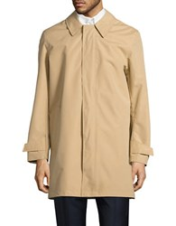 Cole Haan Topper Solid Rain Coat Khaki