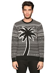 Diesel Palm Intarsia Wool Blend Sweater