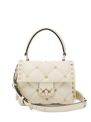 Valentino Candystud Quilted Leather Cross Body Bag Ivory