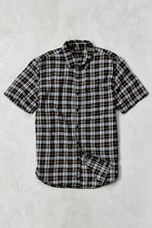 Cpo Brushed Plaid Short Sleeve Shirt Black