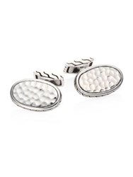 John Hardy Classic Chain Collection Sterling Silver Cuff Links No Color