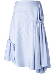 J.W.Anderson Gathered Asymmetric Skirt Blue