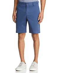 Bloomingdale's The Men's Store At Twill Regular Fit Shorts 100 Exclusive Cadet Blue