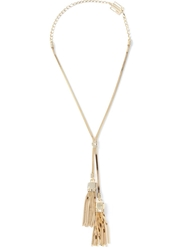 Lanvin Tassle Necklace Metallic