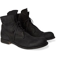 Officine Creative Bubble Burnished Suede Boots Black