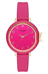 Kate Spade Women's New York Park Row Silicone Strap Watch 34Mm Pink Gold