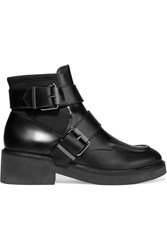 Ash Buckled Leather And Neoprene Boots Black