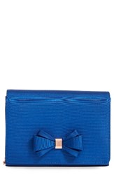 Ted Baker London Bow Clutch Blue Mid Blue